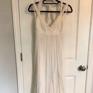 BCBG White Gauze Dress